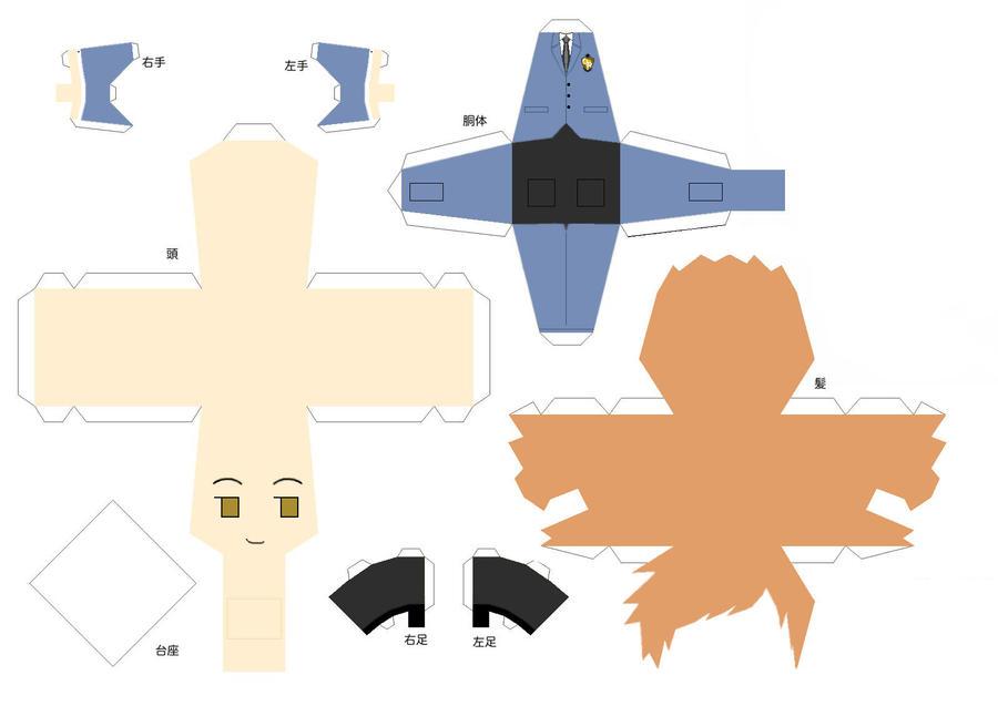 Kaoru Papercraft by Shifteryoukai