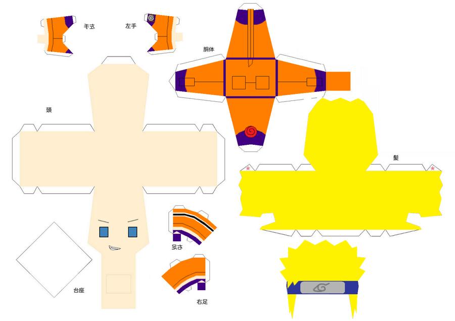 Naruto Uzumaki Papercraft by Shifteryoukai