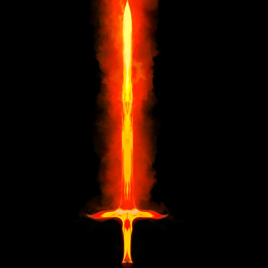 Real Flaming Sword Flame Wrought Sword by