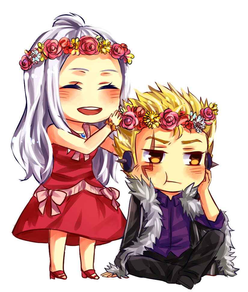 mirajane and laxus for zinniasnowdrop by ZinniaSnowdrop