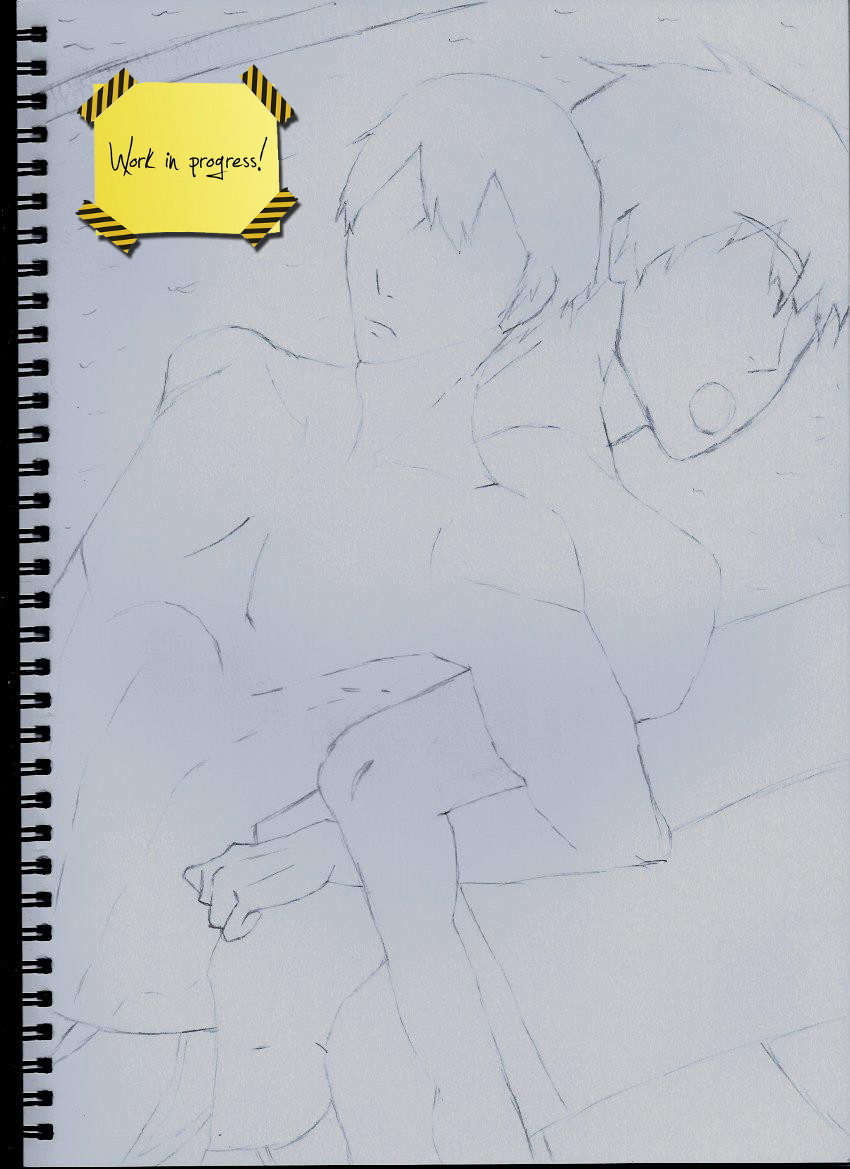 MakoHaru Request Wip by ZinniaSnowdrop