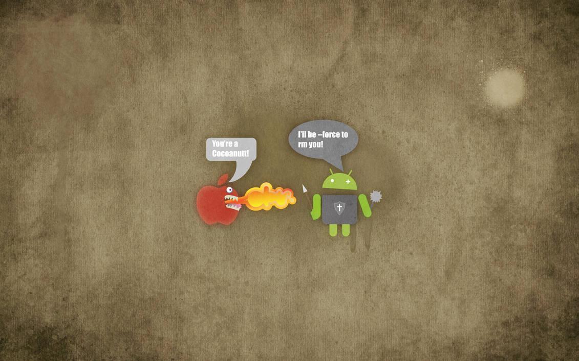 500 Wallpaper Android Vs Apple HD Paling Keren