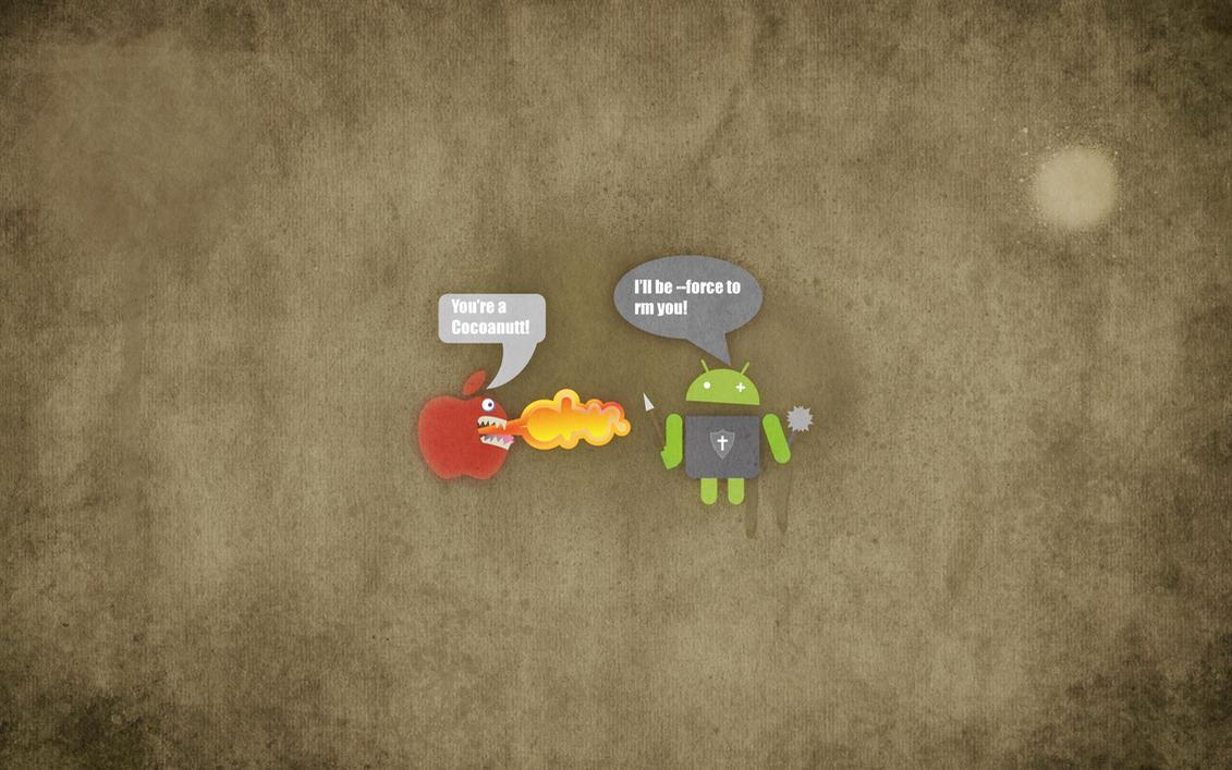 android versus apple wallpaperjambek2003 on deviantart