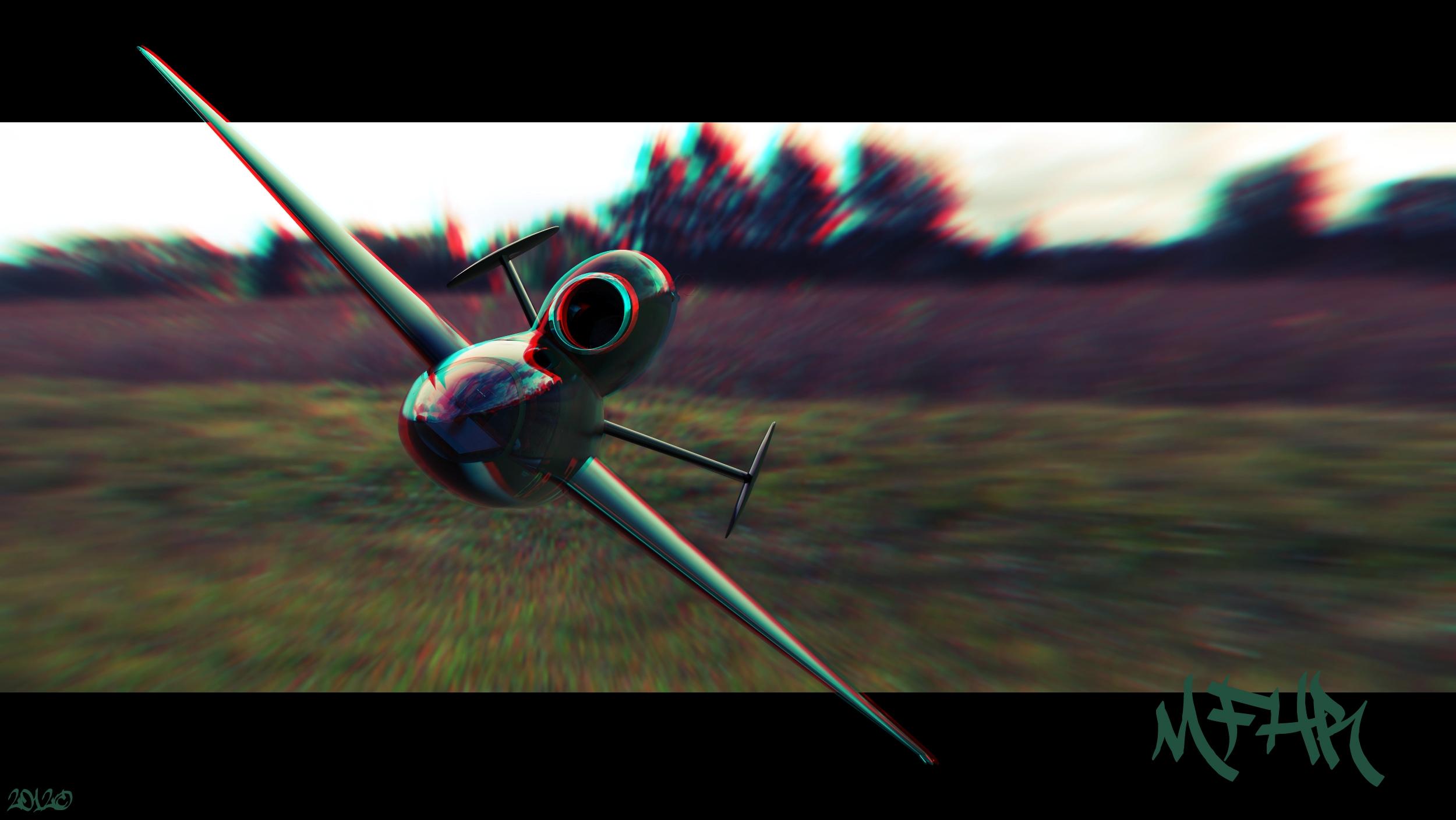 Henschel 132 Stereoscopic render