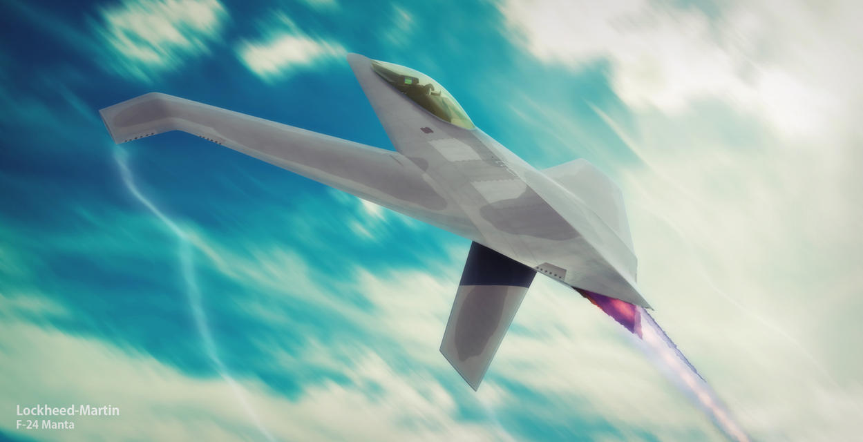Lockheed-Martin F24 Manta by HamzaLippisch