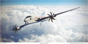 Beeplane Above Cloud