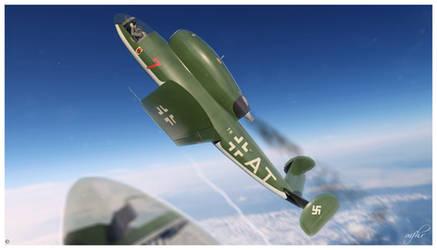 Henschel Hs 132 ascending