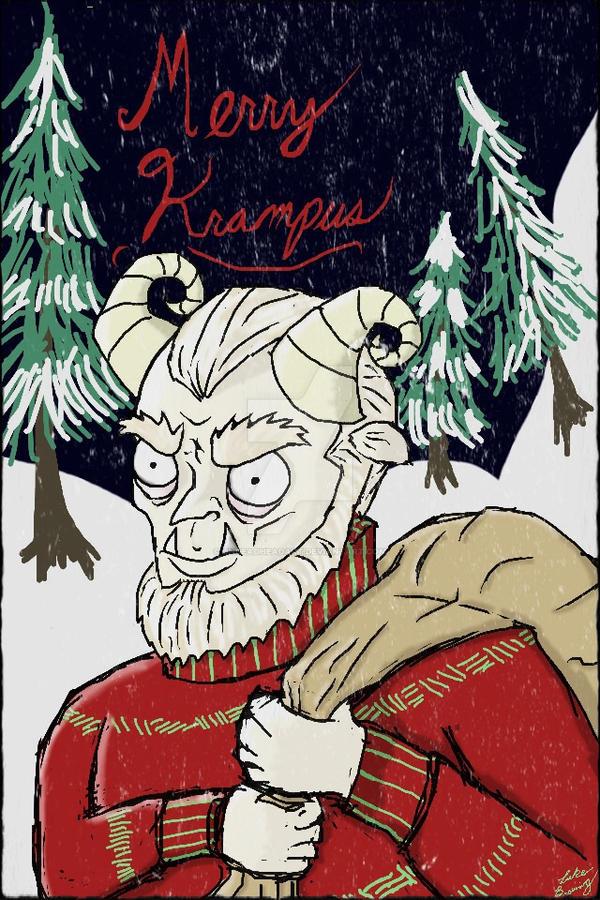 Merry Krampus Christmas Card! by UndeadHeadArt on DeviantArt