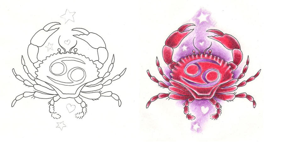 freebies tattoo designs cancer crab girly by tattoosavage on deviantart. Black Bedroom Furniture Sets. Home Design Ideas