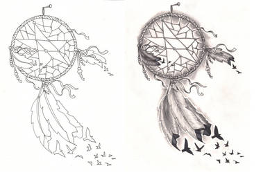 Freebies Tattoo Desings Dream Catcher Birds by TattooSavage