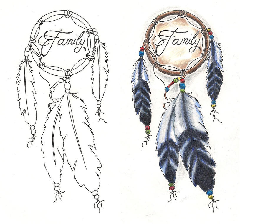 Freebies Tattoo Designs Dream Catcher Family by TattooSavage