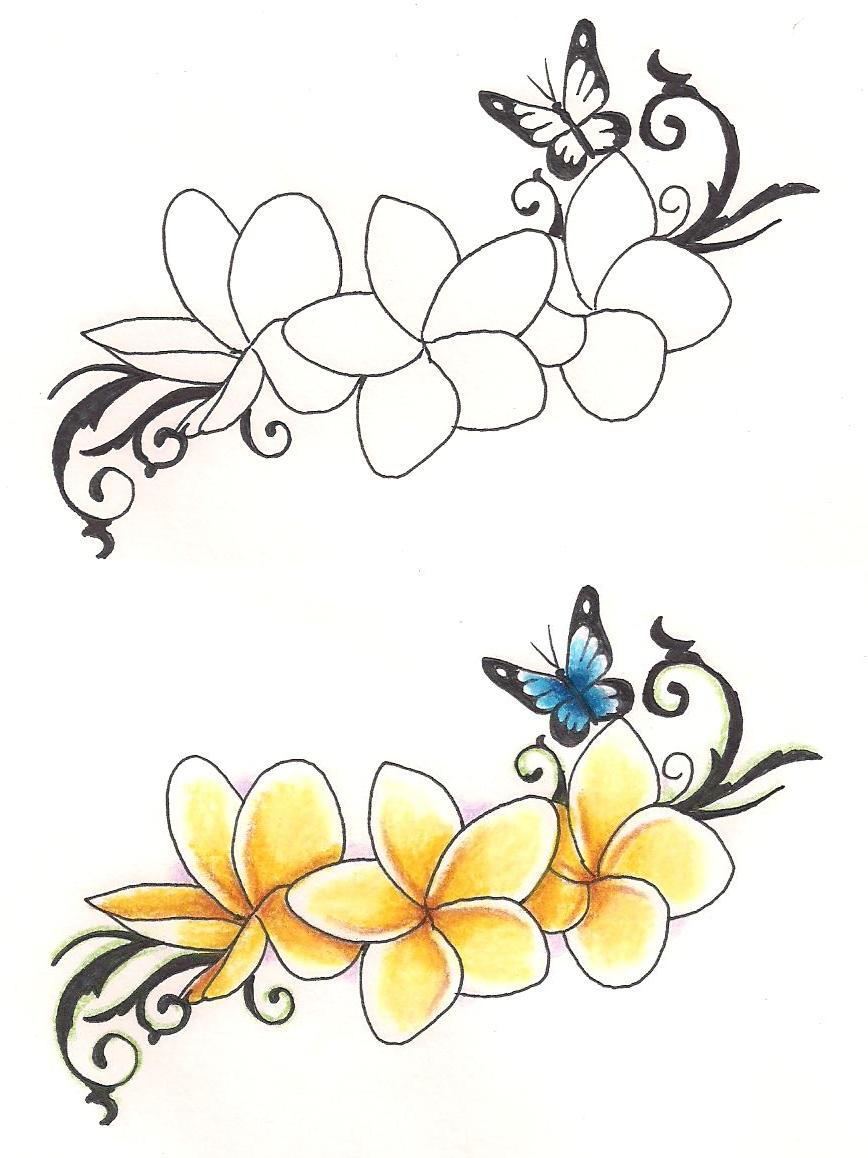 Plumeria Flower Tattoo: Freebies Tattoo Designs Frangipanies By TattooSavage On