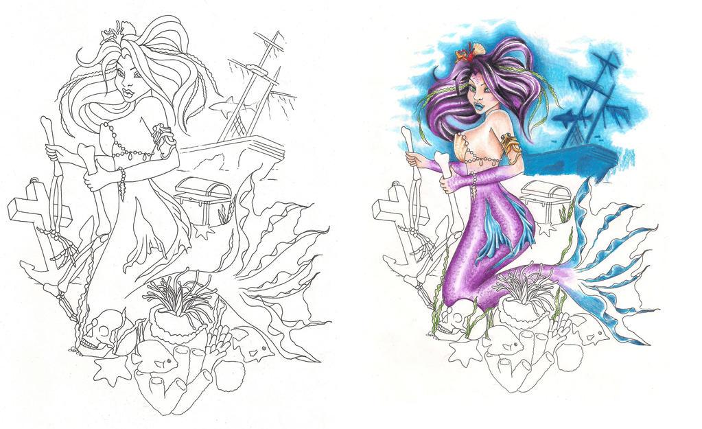 freebies tattoo designs lonely mermaid by tattoosavage on deviantart. Black Bedroom Furniture Sets. Home Design Ideas
