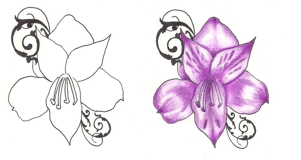 freebies tattoo designs purple flower by tattoosavage on deviantart. Black Bedroom Furniture Sets. Home Design Ideas