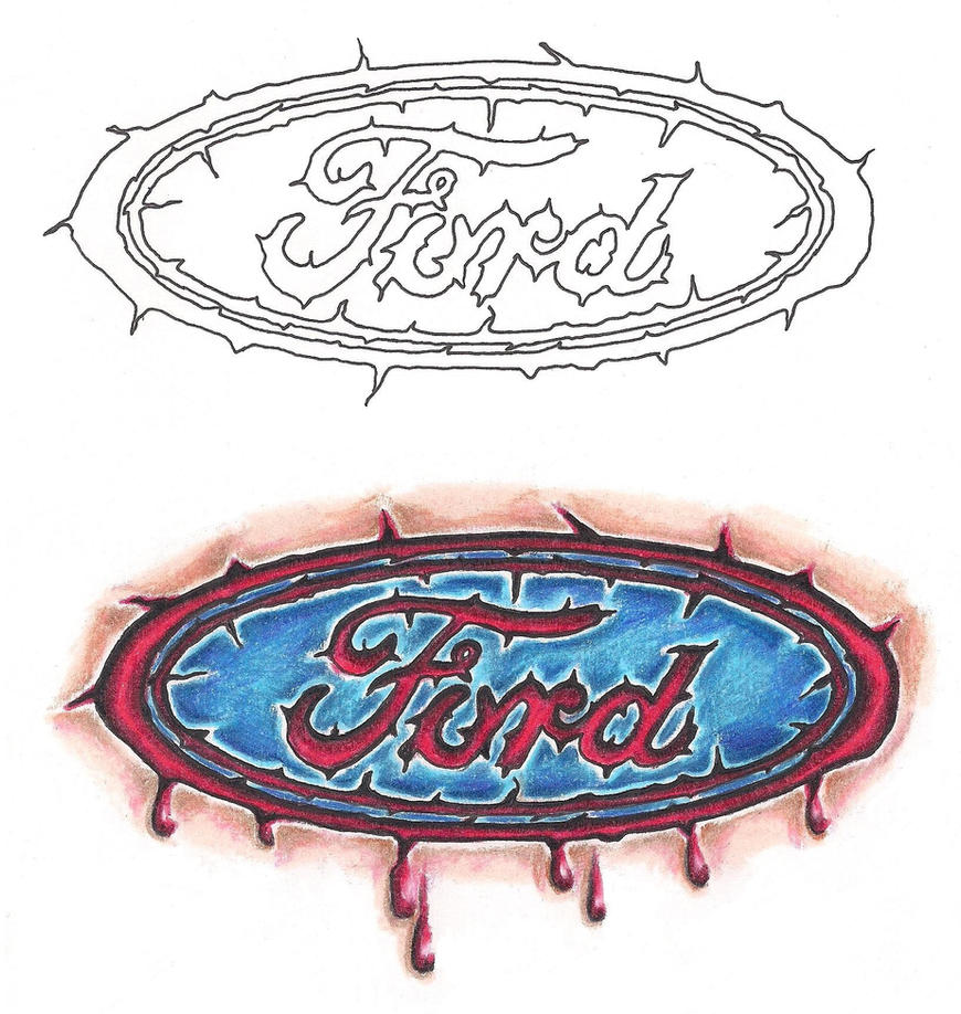 ford racing tattoos the image kid has it. Black Bedroom Furniture Sets. Home Design Ideas