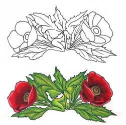 Freebies Poppy Fairy Tattoo Design by TattooSavage