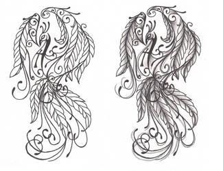 Freebies Phoenix Tattoo Design by TattooSavage