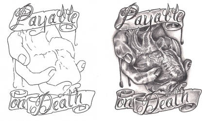 Freeebies Payable On Death Tattoo Design by TattooSavage