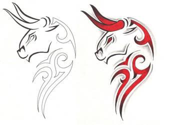 Freebies Taurus Tattoo Design by TattooSavage