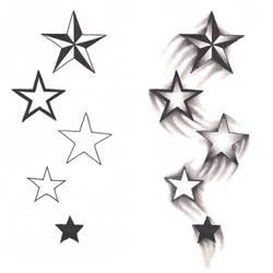 Freebies Shooting Stars Tattoo Design by TattooSavage