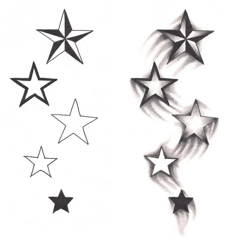 freebies shooting stars tattoo design by tattoosavage on deviantart. Black Bedroom Furniture Sets. Home Design Ideas