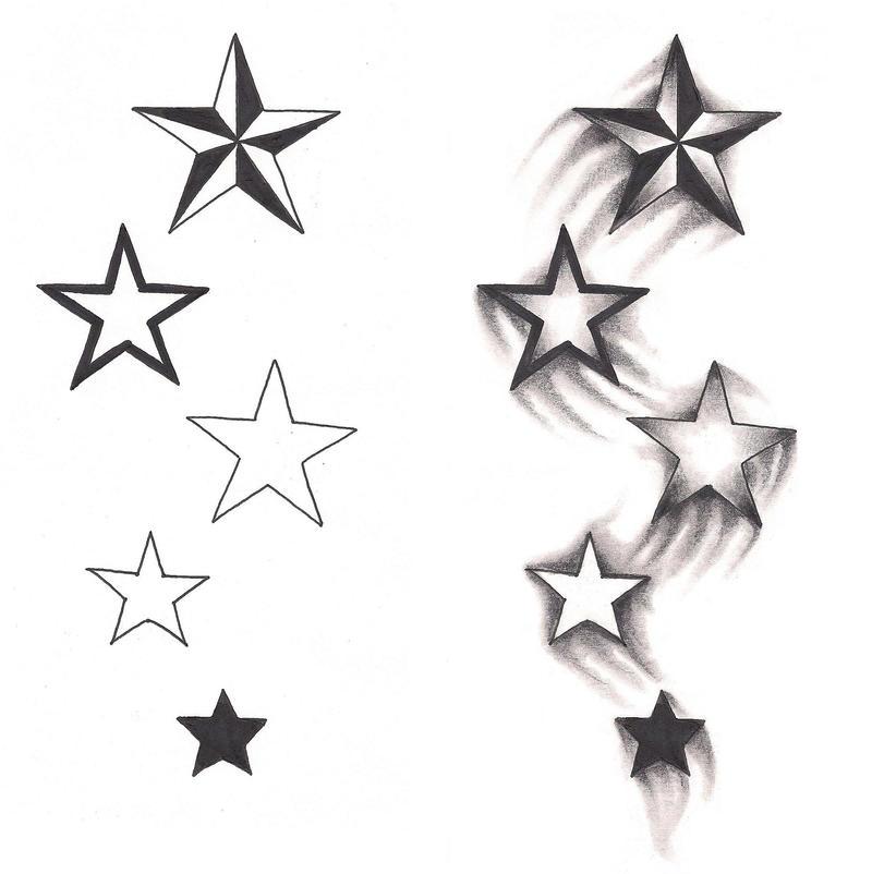 stars drawing tattoo the image kid has it. Black Bedroom Furniture Sets. Home Design Ideas