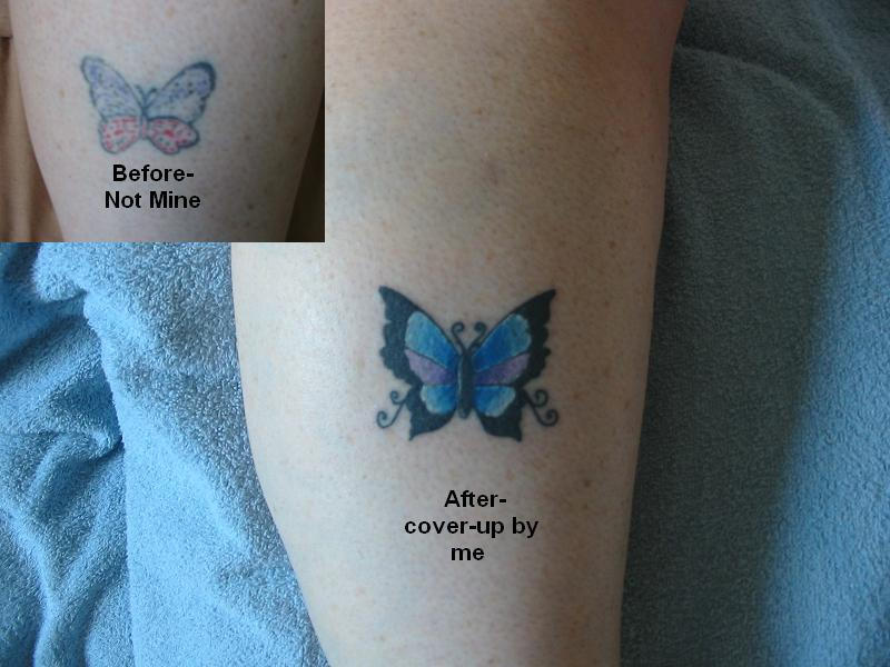 Butterfly coverup - butterfly tattoo