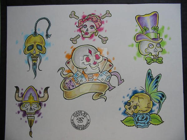 Skulls by TattooSavage