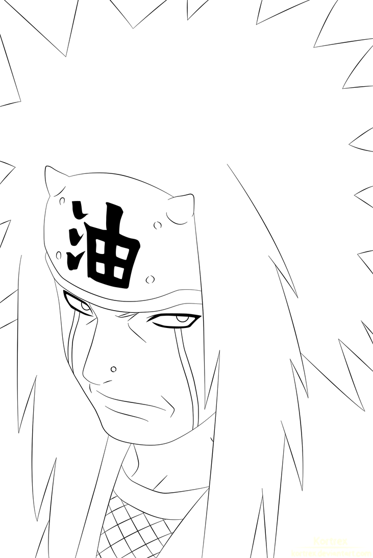 Jiraiya lineart by kortrex on deviantart for Jiraiya coloring pages