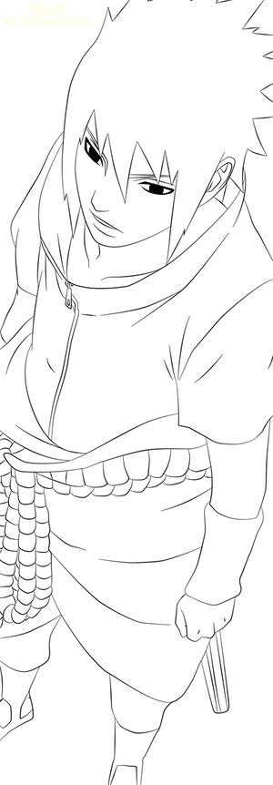Sasuke chapter 627 lineart