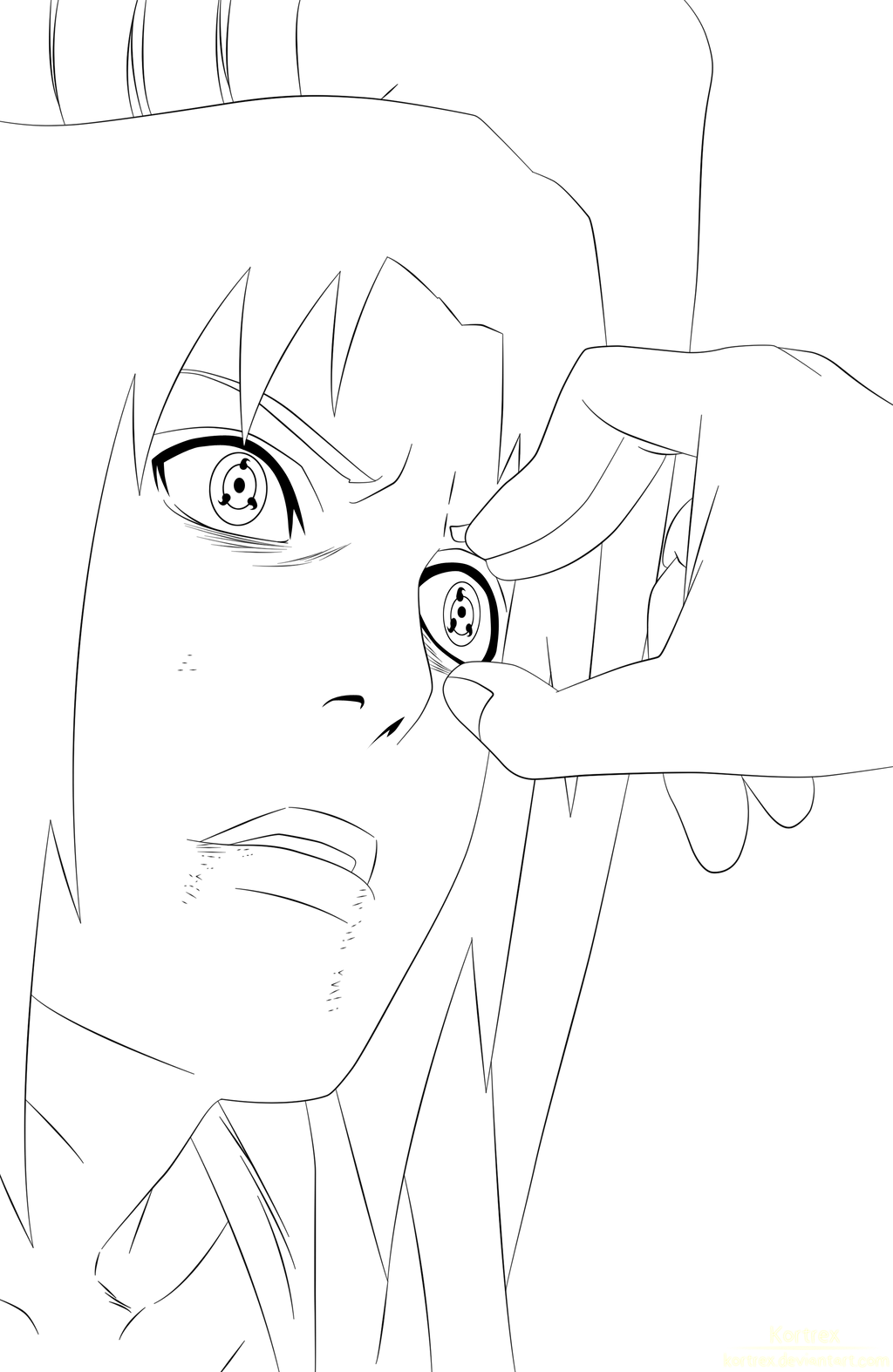 Sasuke Lineart : Sasuke vs itachi lineart by kortrex on deviantart