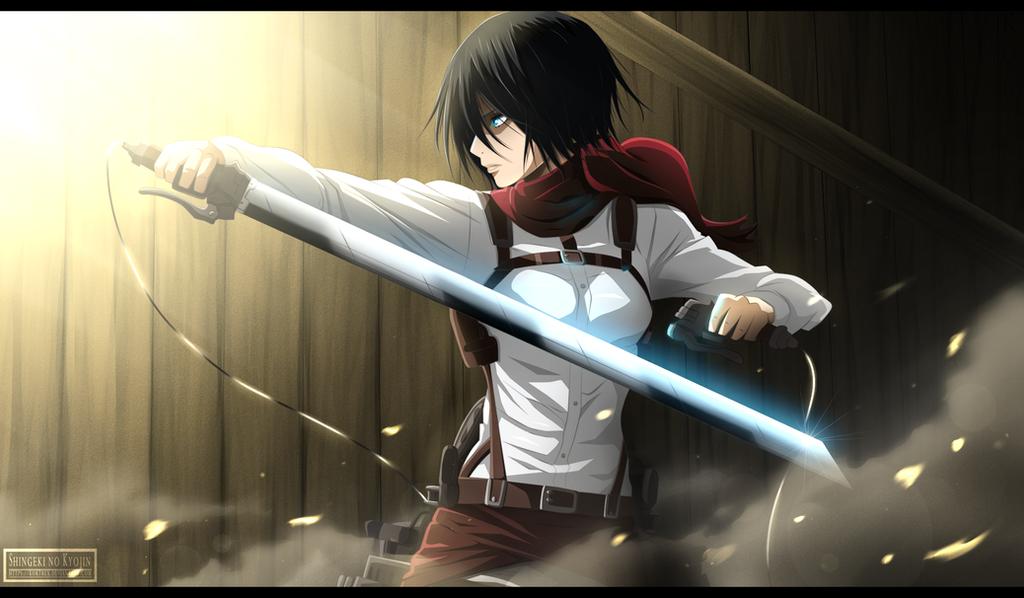 Shingeki no Kyojin - Mikasa Ackerman by Kortrex
