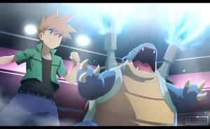 Pokemon Origins - Fighting the best [commission]