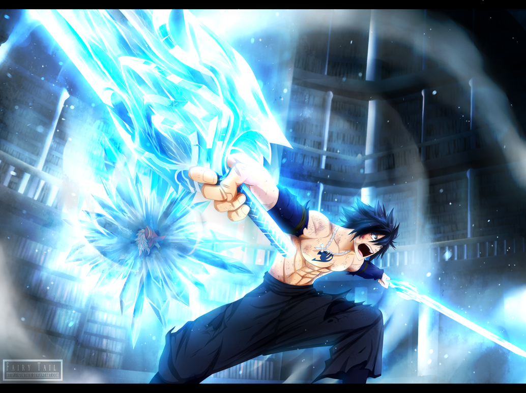 gray fullbuster ice makes his way into the battle by