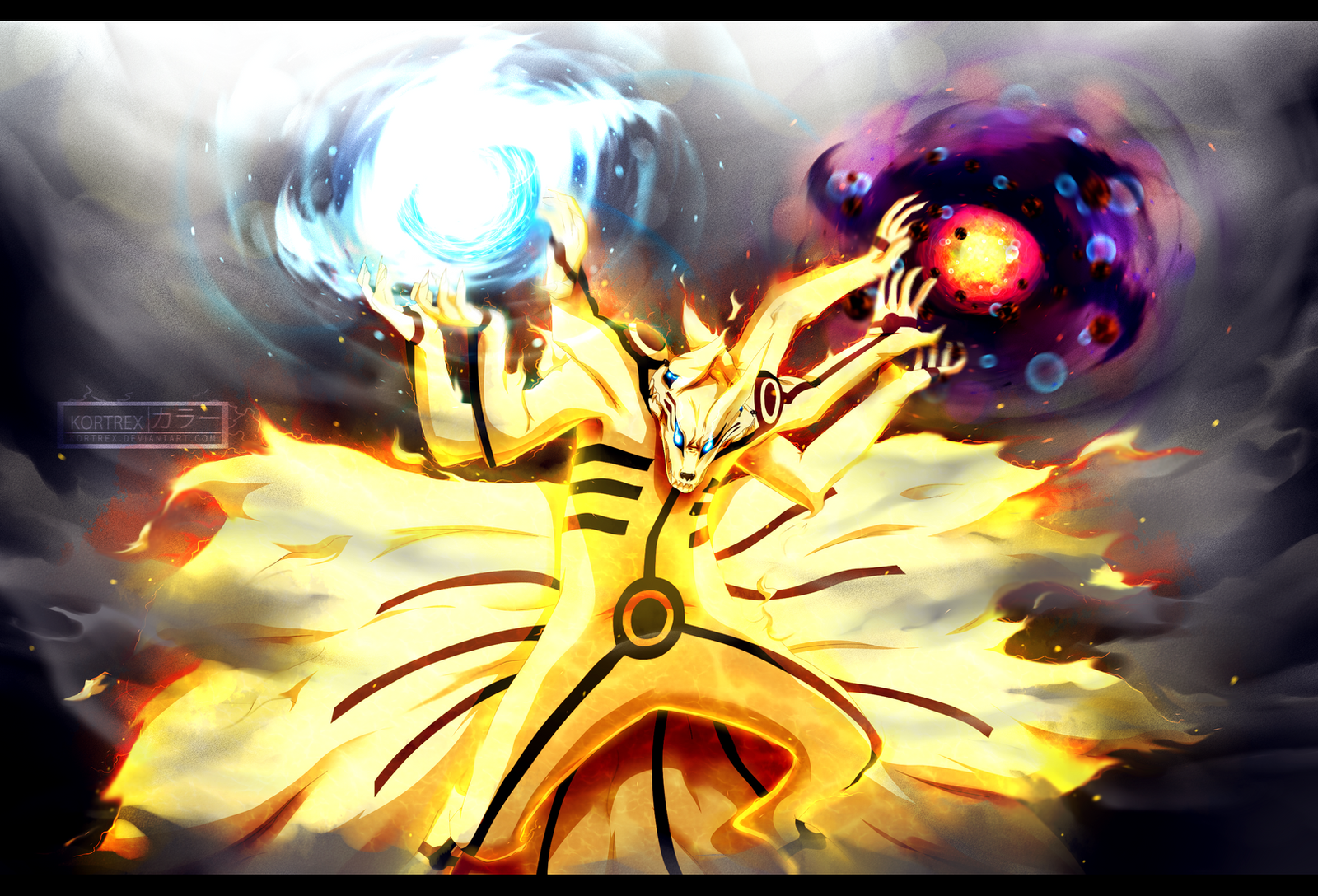 Naruto Kurama Mode Naruto chapter 696 - K...