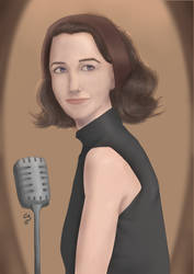 Rachel Brosnahan as Mrs. Miriam Maisel by Chibenobi