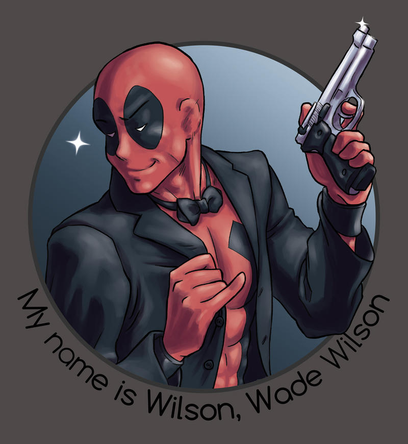 My name is Wilson, Wade Wilson - Tshirt Design by Hiei-Ishida
