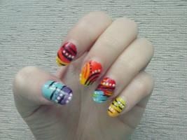 Gradient Nail Art by Hrasulee