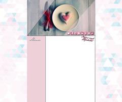 Sweet Pink Layout by Hrasulee