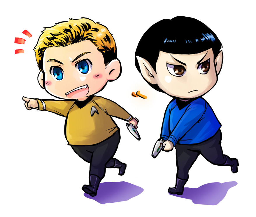 StarTrek: Boldly Go by ZombieDaisuke on DeviantArt |Drawing Cute Cartoon Star Trek Kirk