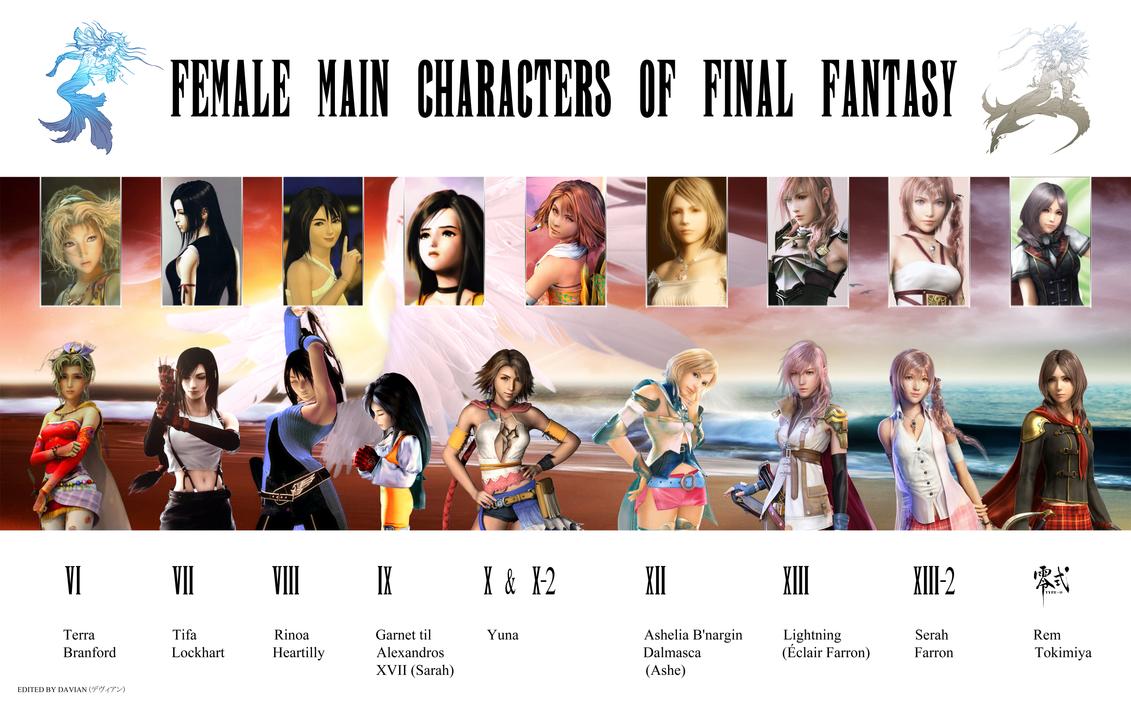 All final fantasy main characters - photo#6
