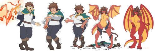 Konosuba's Kazuma Dragon Transformation by AshWolves5