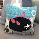 Rug-Hooked Pyukumuku Pillow