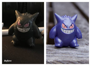 Gengar Re-Paint by CassowaryRoom
