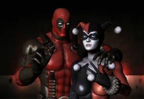 Harley Quinn and Deadpool:D by Doppelanger