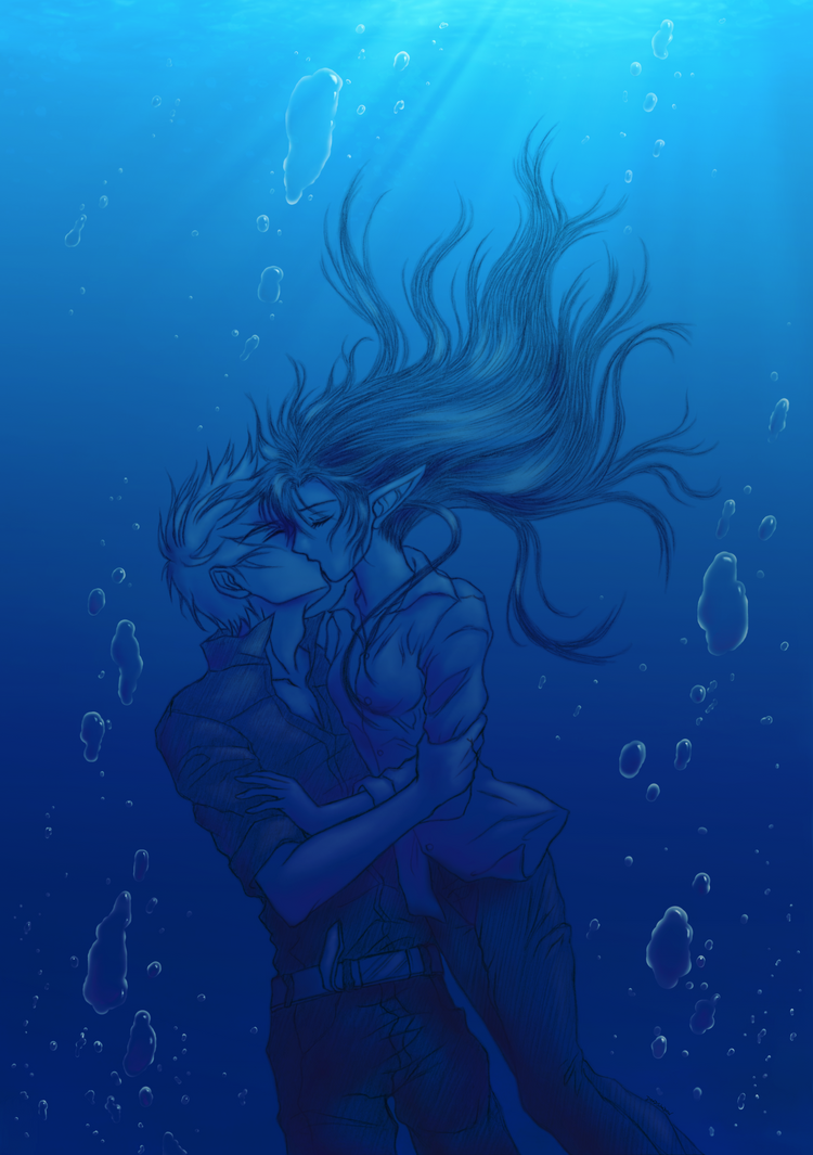 Underwater kiss by DeadShadow666