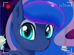 Luna Looking Through a Webcam