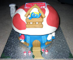 Smurf cake by elainewhy