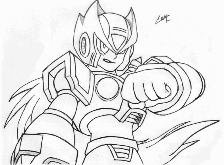 Dibujos De Megaman X Para Colorear