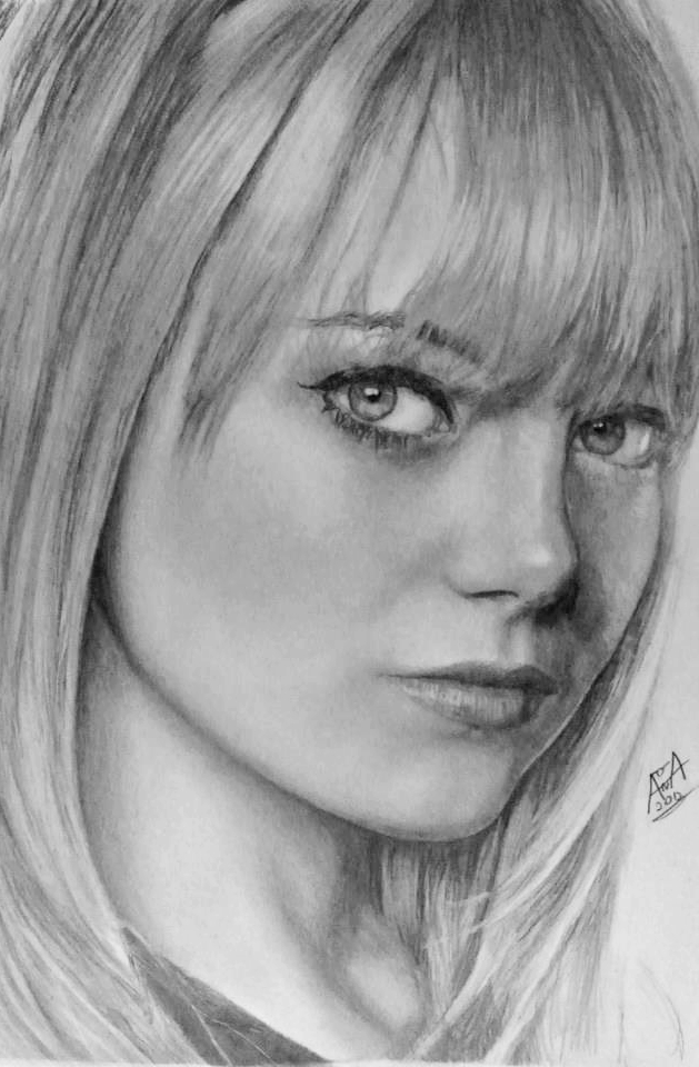 Emma Stone Drawing by analuizantunes